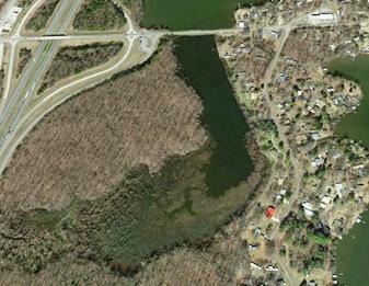 Cove at Lake Conway Google Earth Exxon oil spill