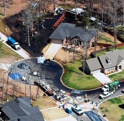 Exxon dilbit spill in Mayflower, Ark.