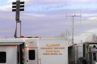 Trailer of the ExxonMobil Emergency Response team