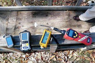 Air quality equipment at the site of Exxon's Arkansas Oil Spill