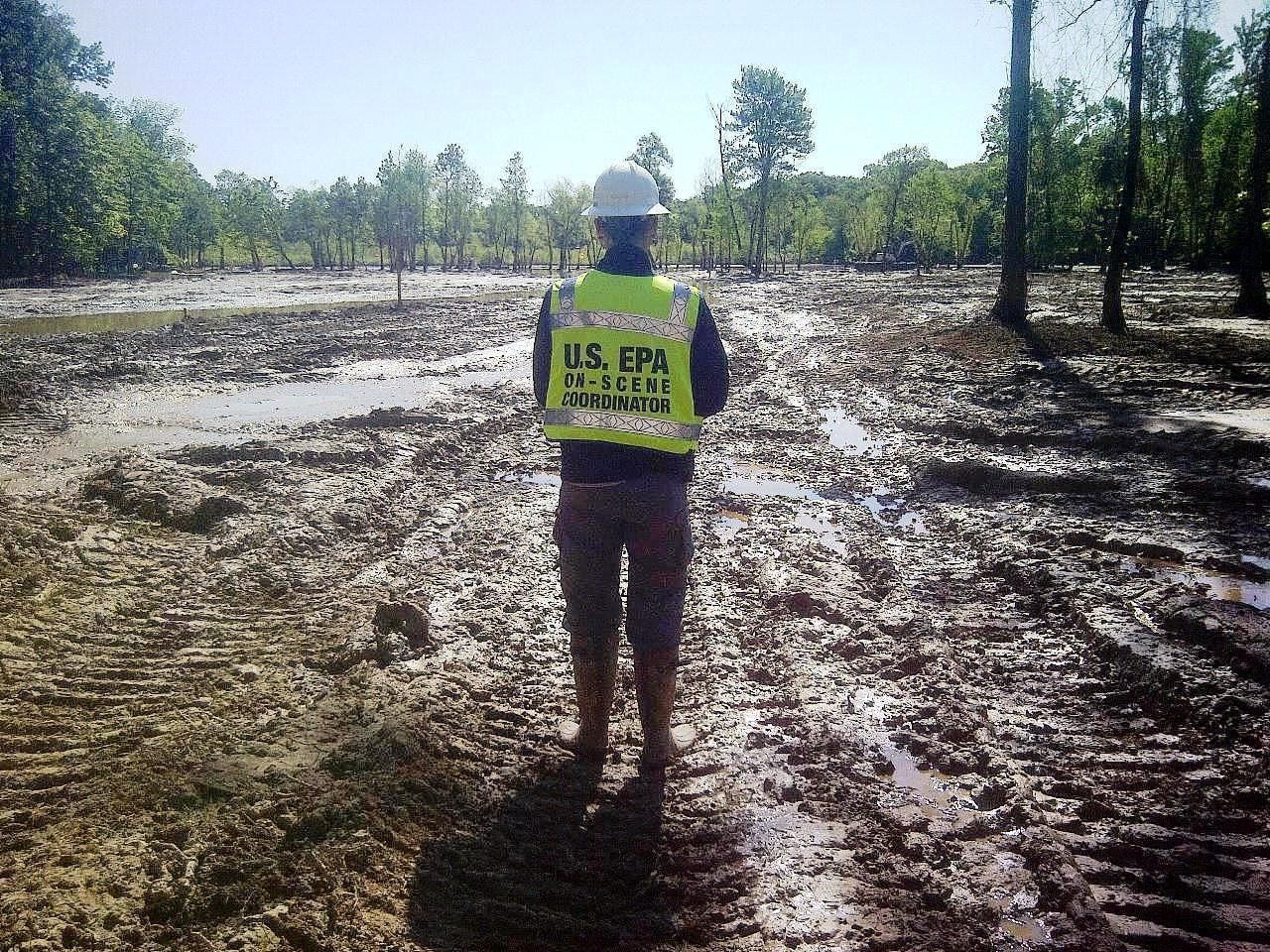 Cleaned area at Exxon pipeline spill in Arkansas