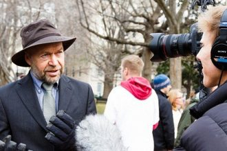 James Hansen at Keystone protest