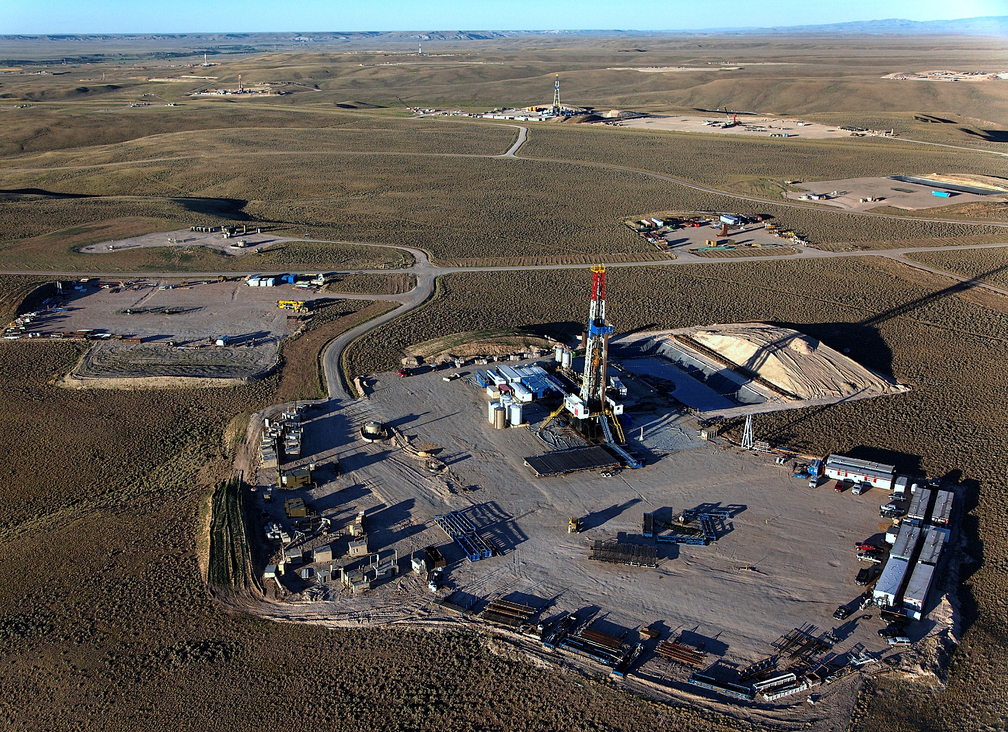 Drilling for natural gas on the Pinedale Anticline in Wyoming