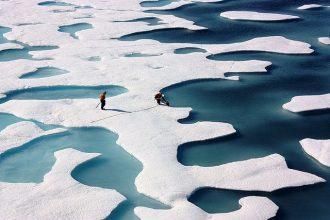 Sea ice in the Arctic Ocean