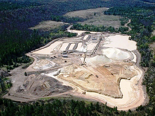 A sand mining facility in Grantsburg, Wisc.