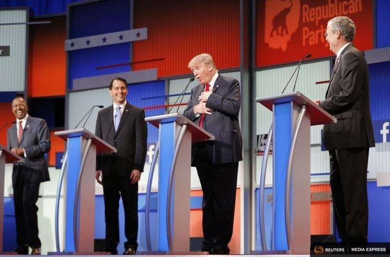 Ten Republican candidates squared off in their first debate Thursday night in Cleveland