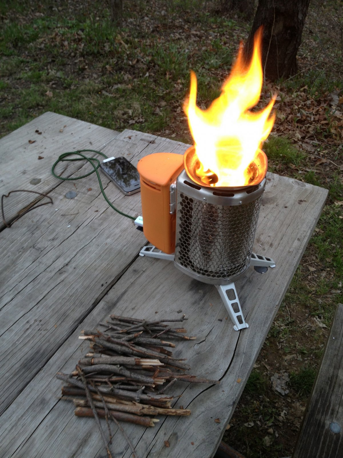 BioLite's camp stove reduces emissions by burning wood more efficiently