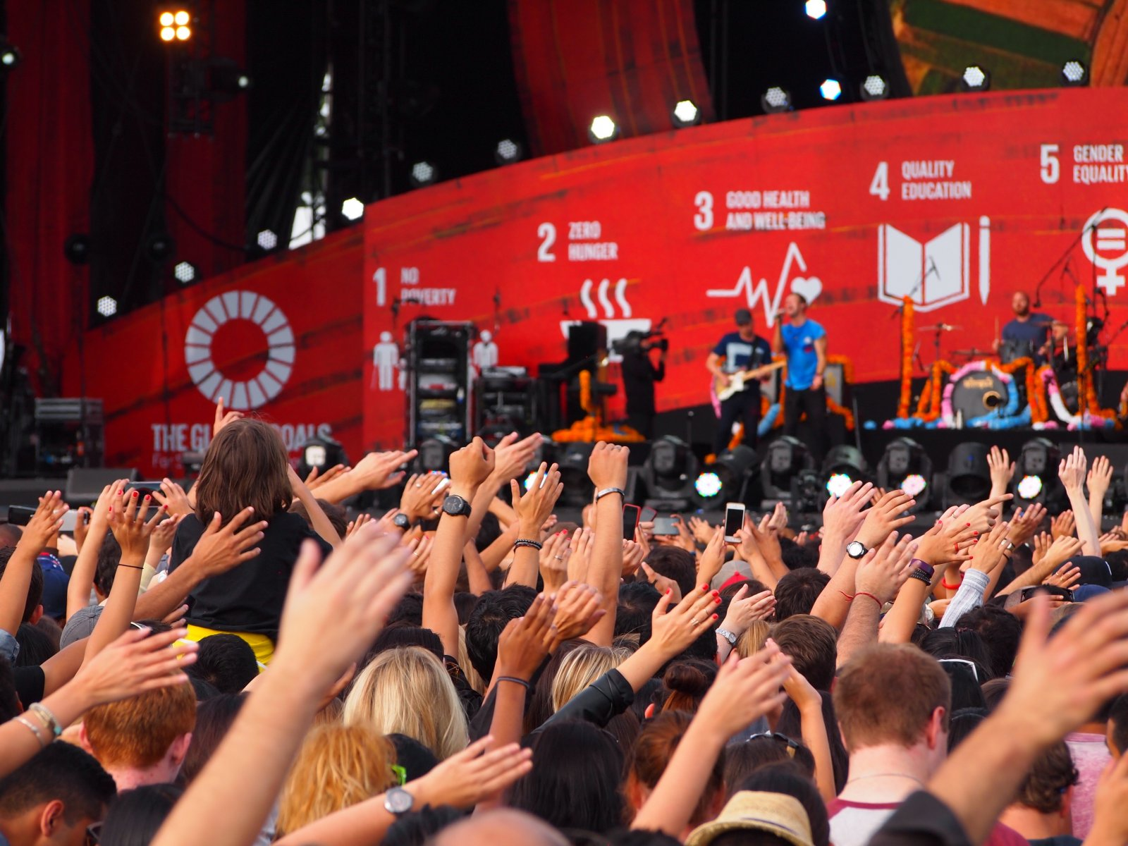 Coldplay plays at the Global Citizen Festival in New York's Central Park