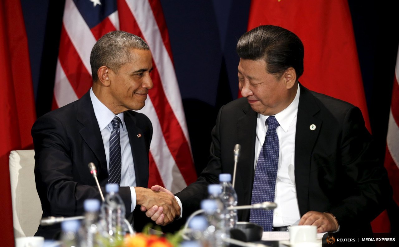 President Barack Obama and China's President Xi Jinping at the opening of the Paris climate talks