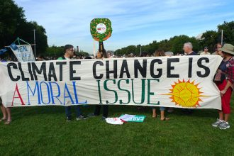 Global warming is increasingly seen as a moral issue