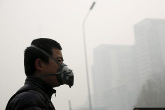 """Beijing's pollution recently triggered a """"red alert"""""""