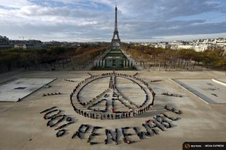 Paris climate agreement supporters spelled out their hope for the future.