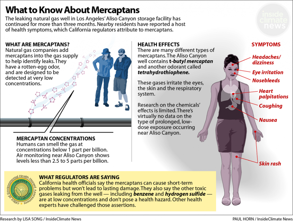 The health impacts of mercaptans