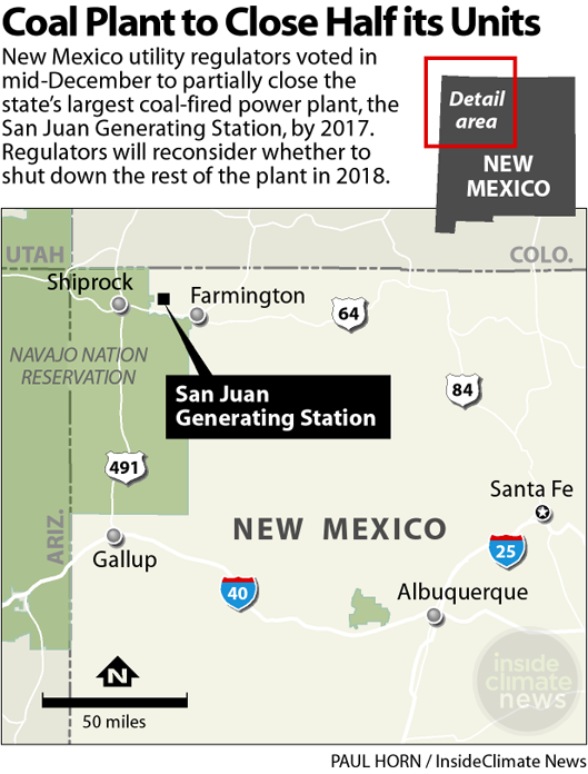 The San Juan Generating Station is New Mexico's largest coal plant