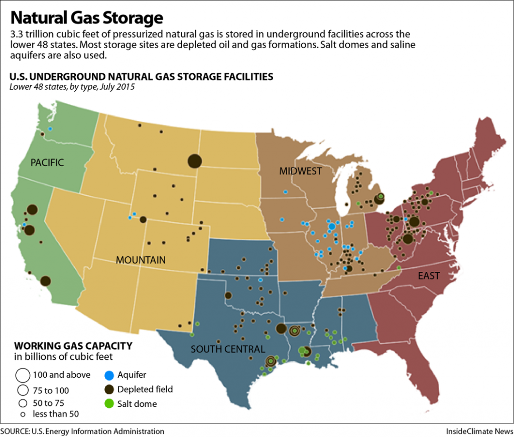There are more than 400 natural gas storage sites like Aliso Canyon across the country