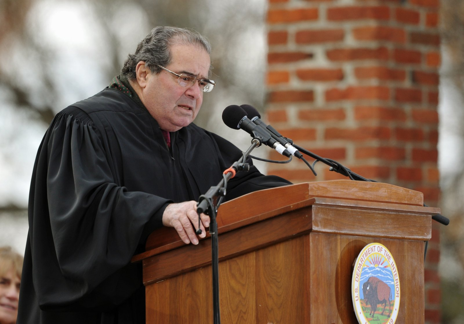 Supreme Court Justice Antonin Scalia speaking at an event commemorating the Gettysburg Address in 2013