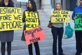 Protesters urge stronger action against So Cal Gas for methane leak