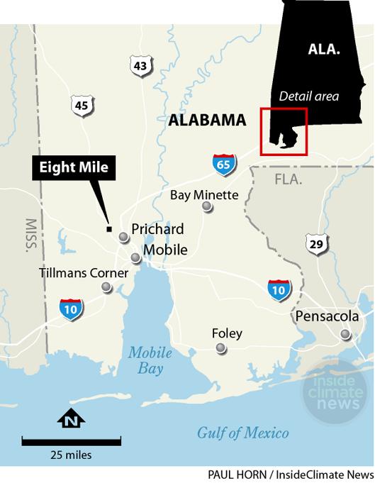 Eight Mile locator map