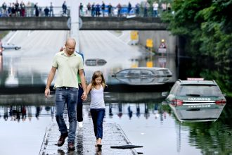 Major flooding hit Copenhagen in 2010