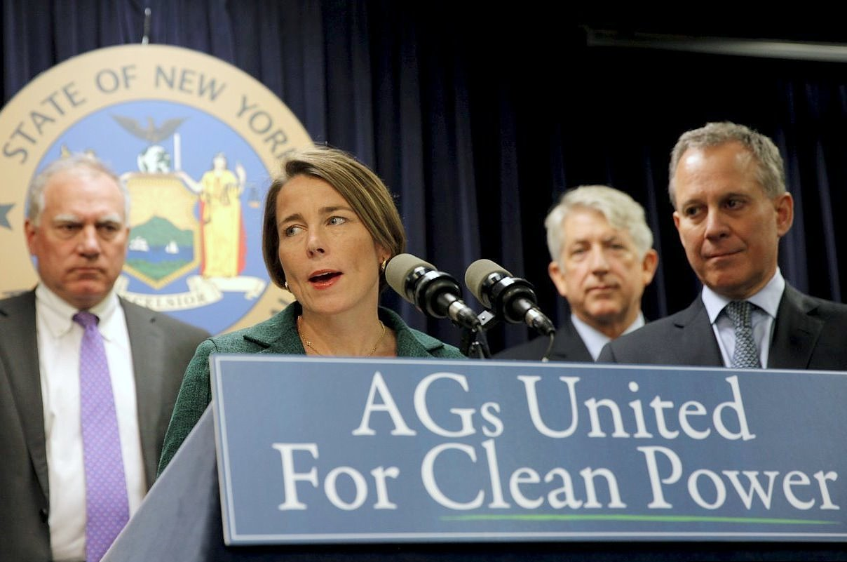 A team of state attorneys general are teaming up to support climate action