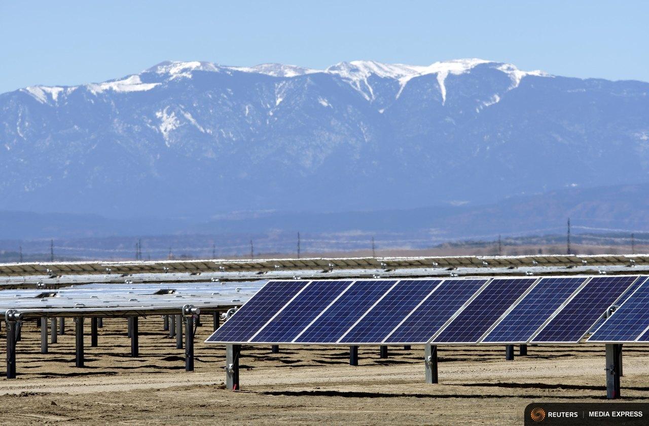 The Commanche Solar facility in Pueblo, Colo.