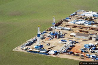 Emissions of methane from facilities like this one in Williston, N.D., is a matter of dispute