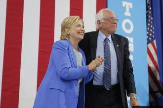 Hillary Clinton and Bernie Sanders worked out a Democratic Party platform agreement on a carbon tax