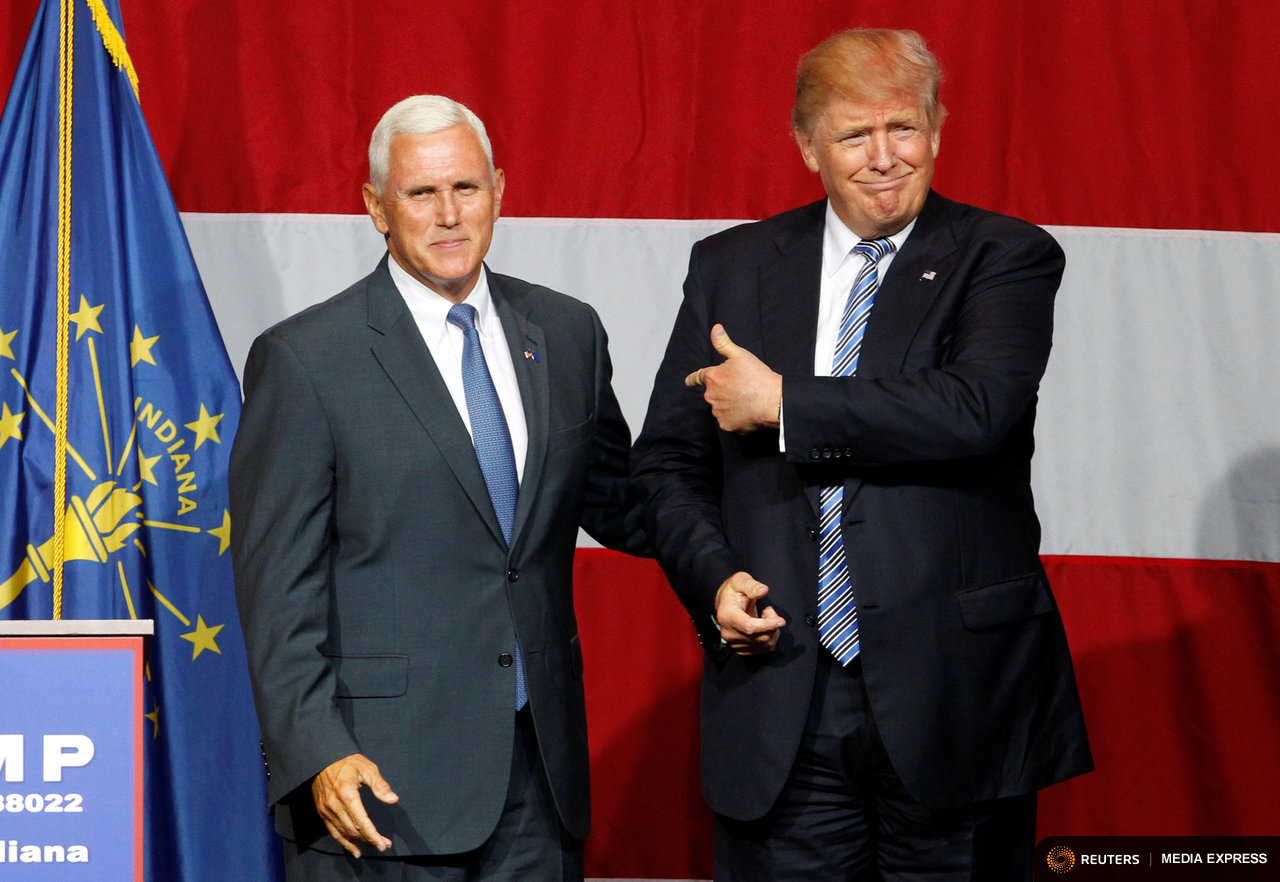 Donald Trump chose Indiana Gov. Mike Pence as his running mate on the Republican ticket