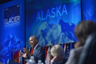 President Obama talked about climate change in his visit to Alaska in 2015