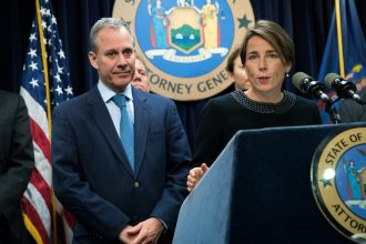 New York Attorney General Eric Schneiderman and Massachusetts Attorney General Maura Healey are fighting a Congressional subpoena