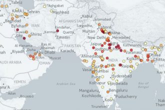 PM10 pollution map