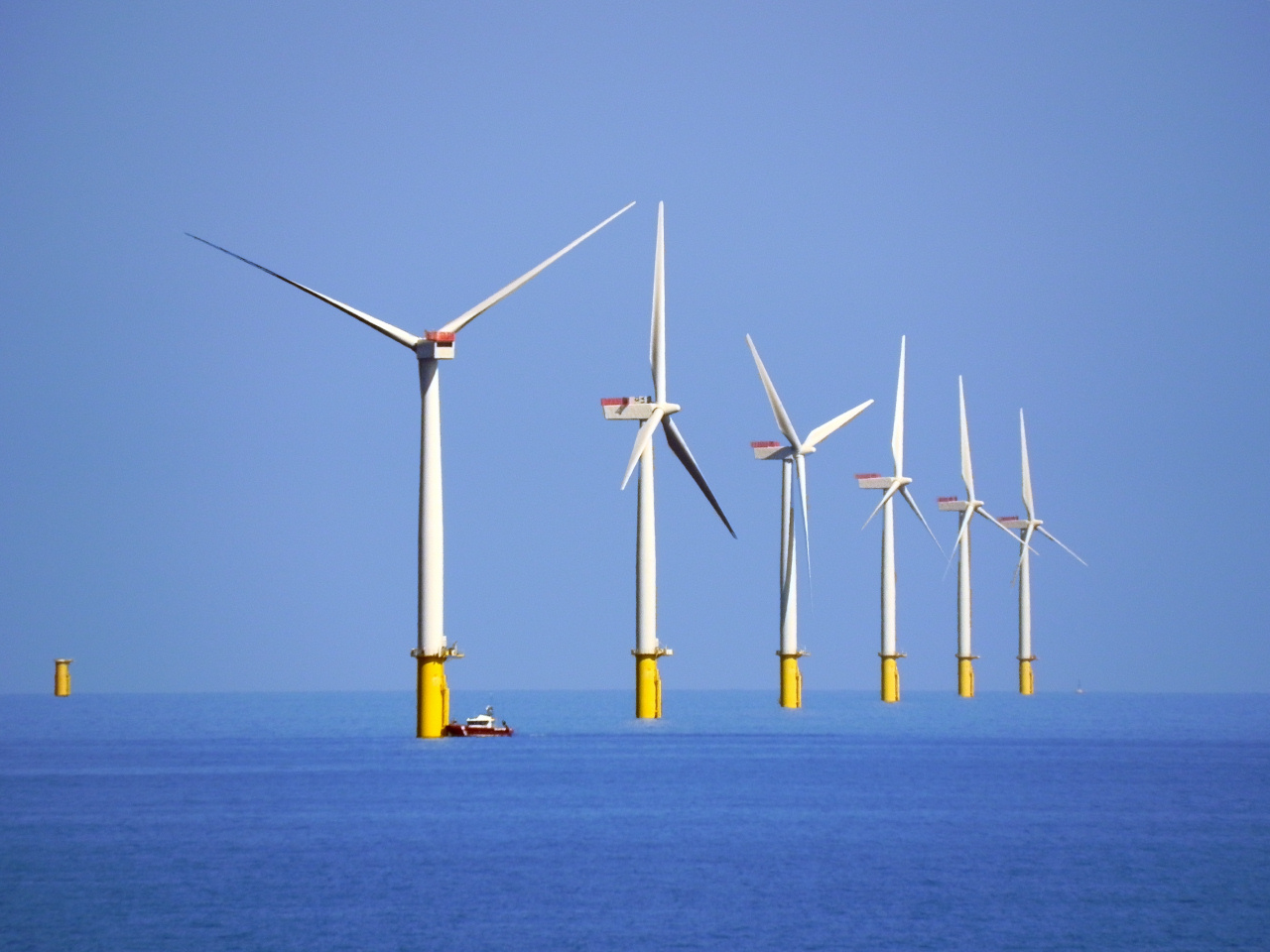 The Watney wind farm in the Irish Sea is one of the largest offshore wind farms in the world