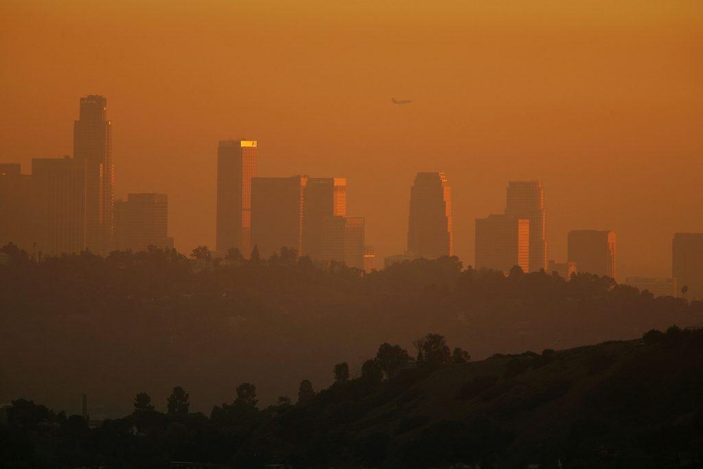 Smog over downtown LA