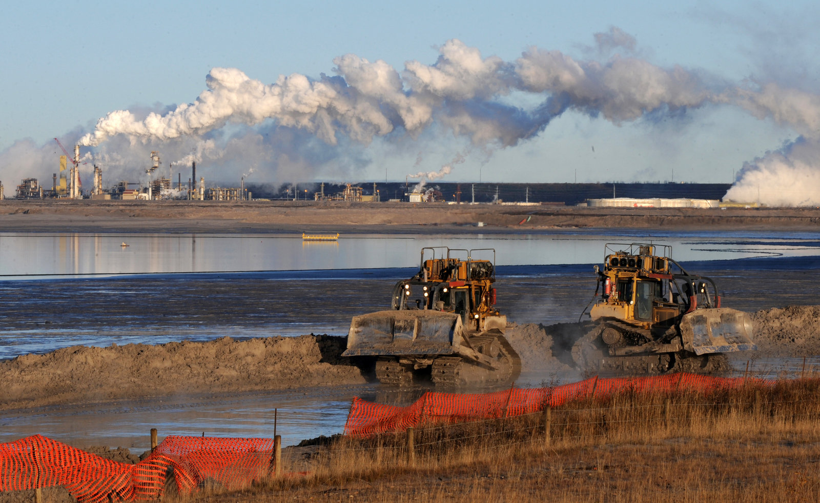 The Syncrude extraction facility in Alberta is one of Exxon's tar sands projects
