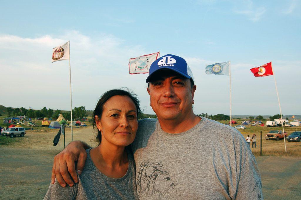 Nicole Thunder Hawk and husband David Archambault II