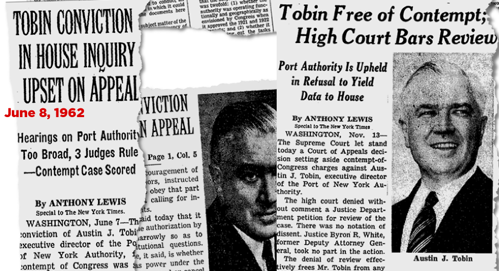 Port Authority Chief Austin J. Tobin case in 1960