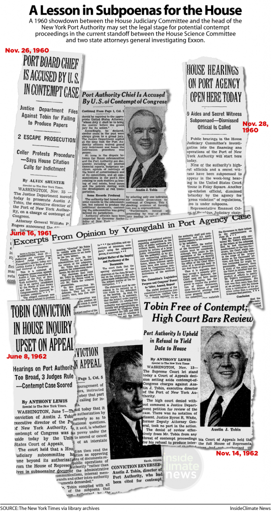 Port Authority Chief Austin J. Tobin fought Justice Committee subpoena in 1960
