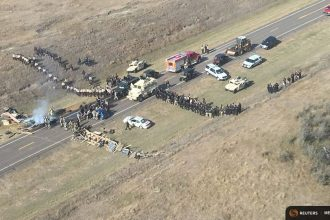The Dakota Access protest looked a lot larger on Monday based on its social media presence