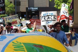 Colorado anti-fracking activists rally in Denver