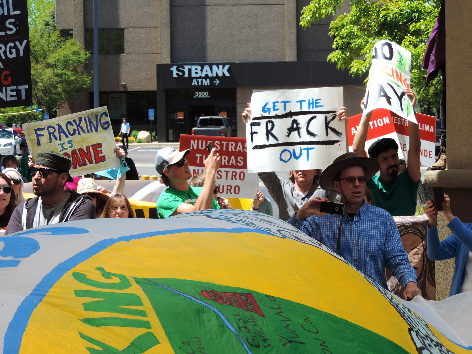 Colorado anti-fracking activists rally in Denver