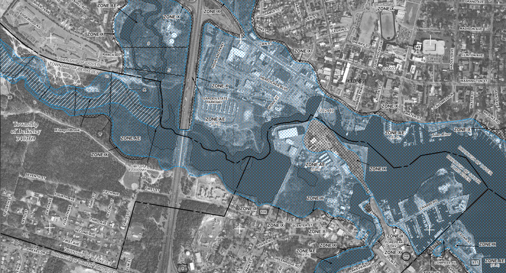 FEMA floodmap of Toms River