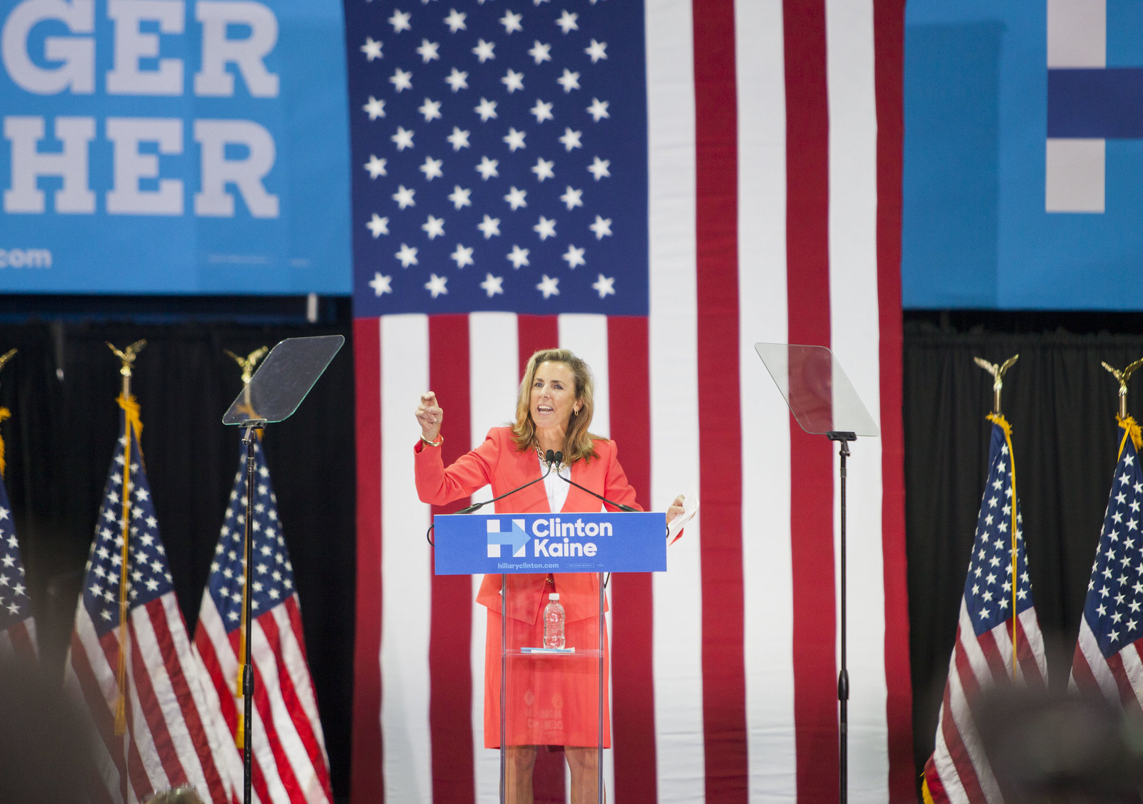 Democrat Katie McGinty campaigns for Hillary Clinton, hopes to ride her momentum to a Senate seat
