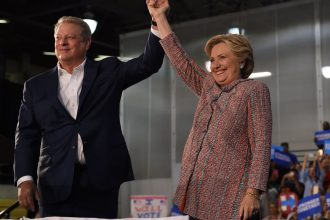 Al Gore campaigns with Hillary Clinton in Florida this week