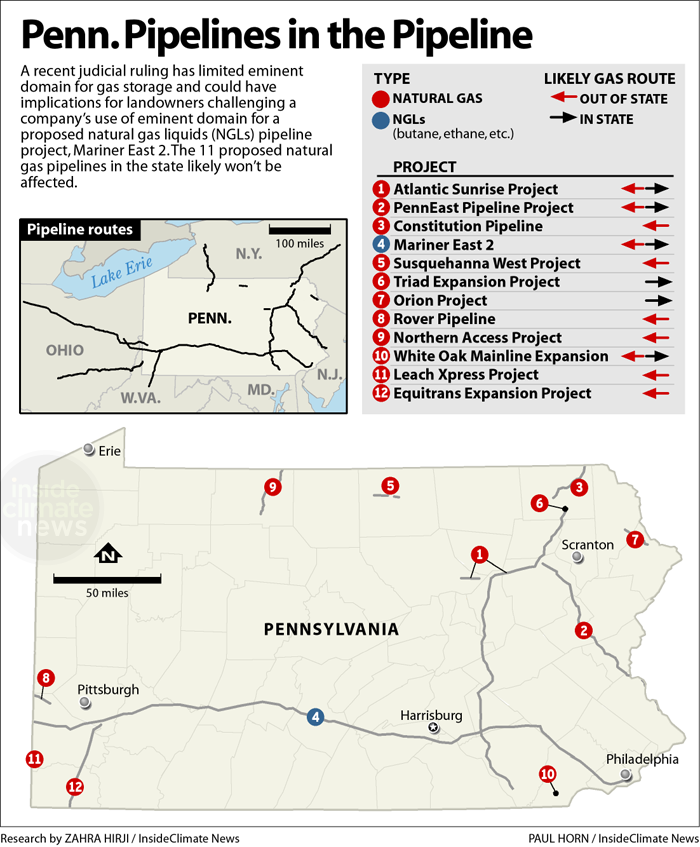 Pennsylvania pipeline projects being proposed