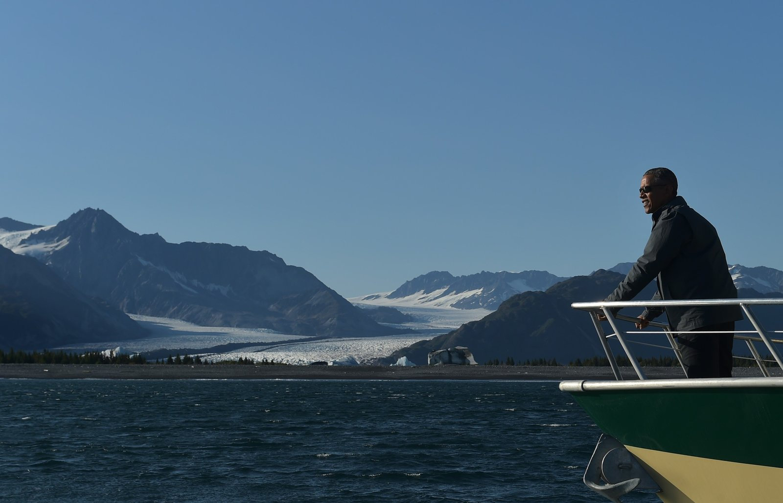 President Barack Obama took a trip to Alaska to see climate change firsthand