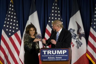 Donald Trump is said to be considering Sarah Palin for several administration posts