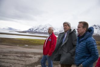 Secretary of State John Kerry visited Norway to witness the melting Arctic