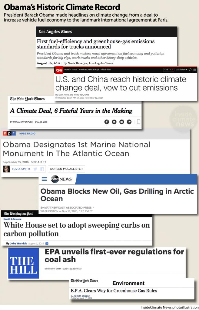 President Obama's Historic Climate Record