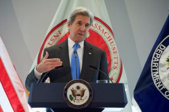 Secretary of State John Kerry speaks to MIT students