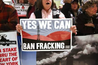 Fracking opponents succeeded in winning a ban in New York
